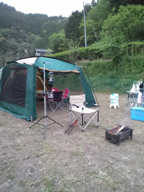 キャンプ開始